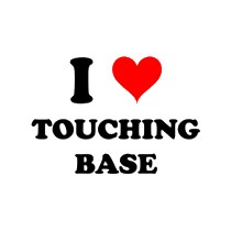 I heart touching base